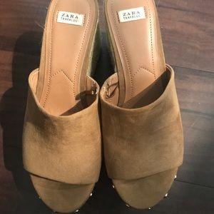 Zara slip on chunky heels